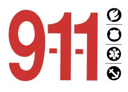 Dial 911 for fire and medical emergencies