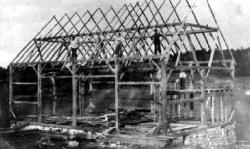 Whitestone Historical Society Photo--Farley Barn Raising