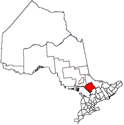 location of Parry Sound District in Ontario